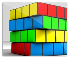 rubik-cube in cinema 4d