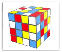 rubix cube in Adobe Illustrator