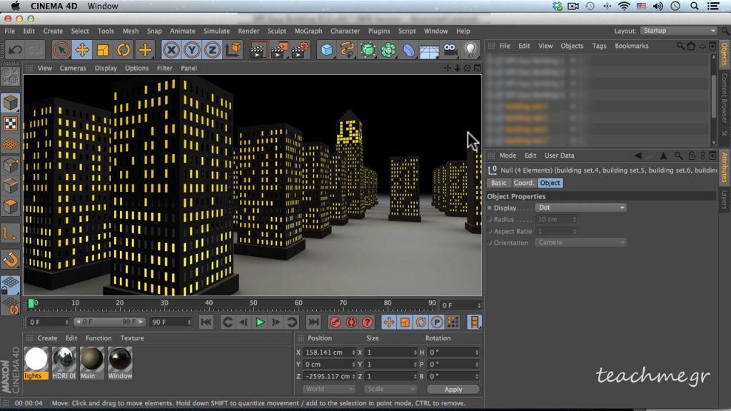 Δημιουργία Κτιρίων στο Maxon Cinema 4D