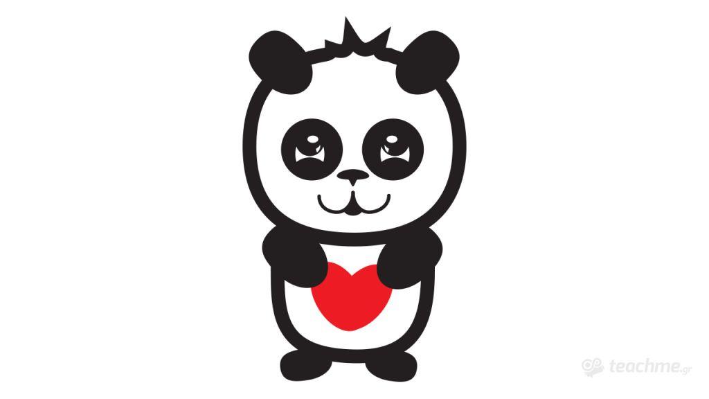 Δημιουργία Χαρακτήρα Panda στο Adobe Illustrator