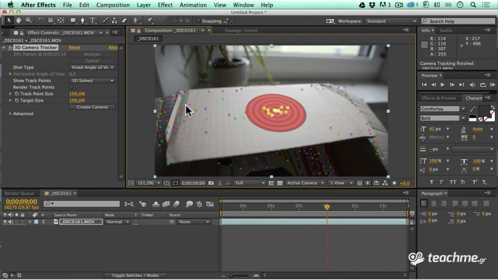 Cineware μάθημα after effects