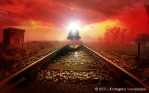 Red Train Dark Express   Μάθημα Photoshop