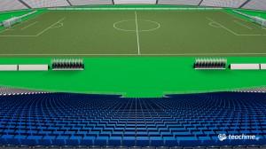 Ποδοσφαιρικό ΟΑΚΑ - Εξέδρες, διάδρομοι και οπαδικές θύρες - Μάθημα Cinema 4D