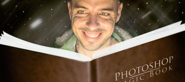 """Το εφέ του """"μαγικού Βιβλίου"""" . Μάθημα photoshop"""