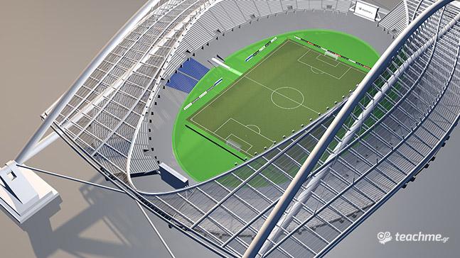 Αγωνιστικός χώρος στο Ολυμπιακό Στάδιο (ΟΑΚΑ)