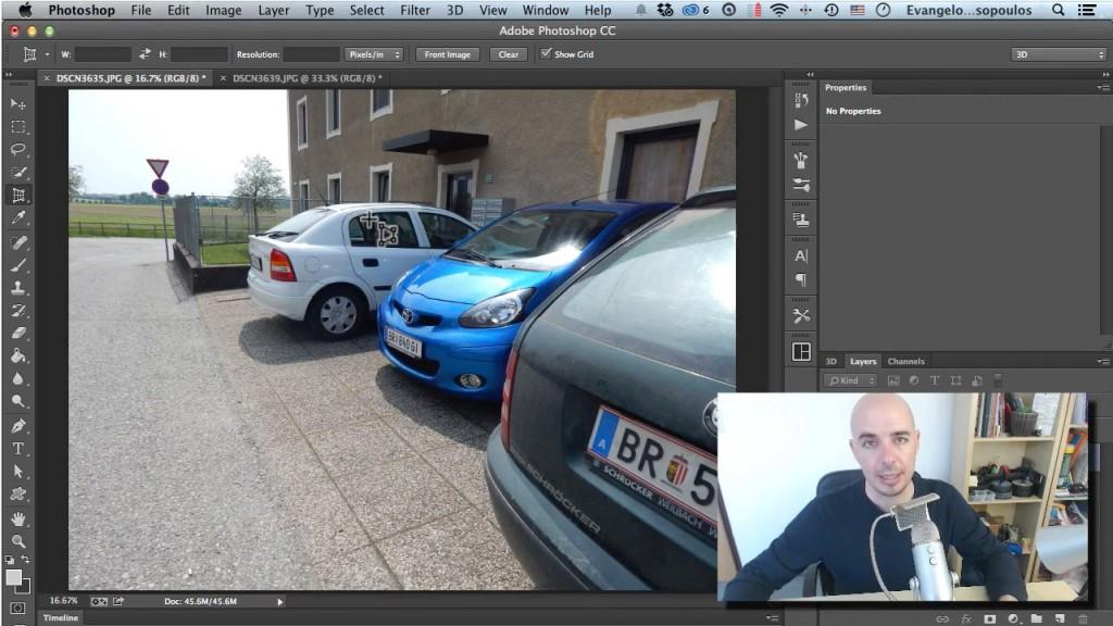 Το Perspective Crop Tool στο Photoshop! - Εικόνα μέσα από το μάθημα.