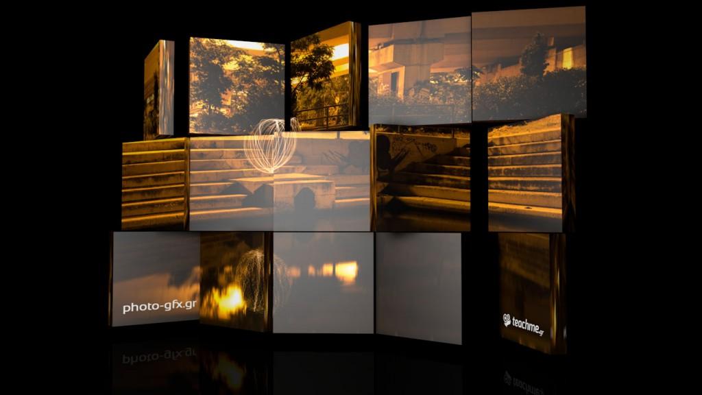 3d video wall στο cinema 4d