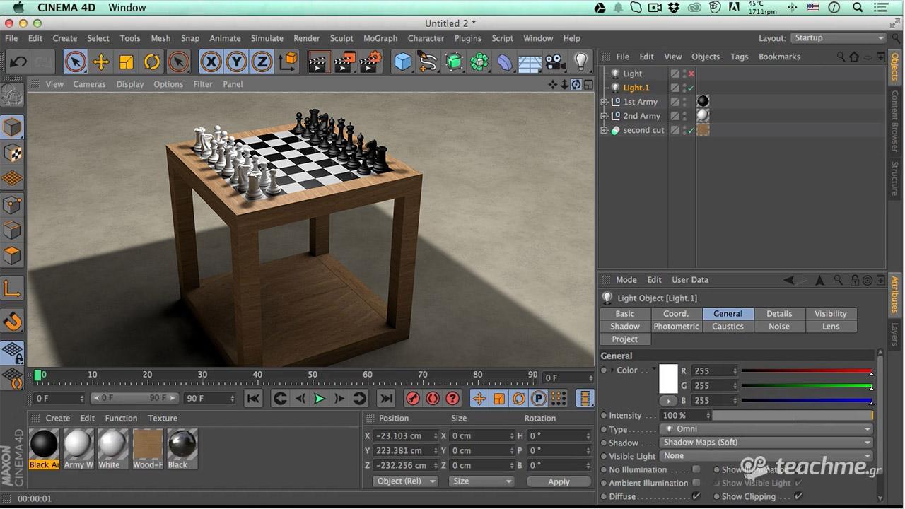 """Πακέτο """"Chess Project"""" στο Cinema 4D - Ολοκληρωμένο Project"""