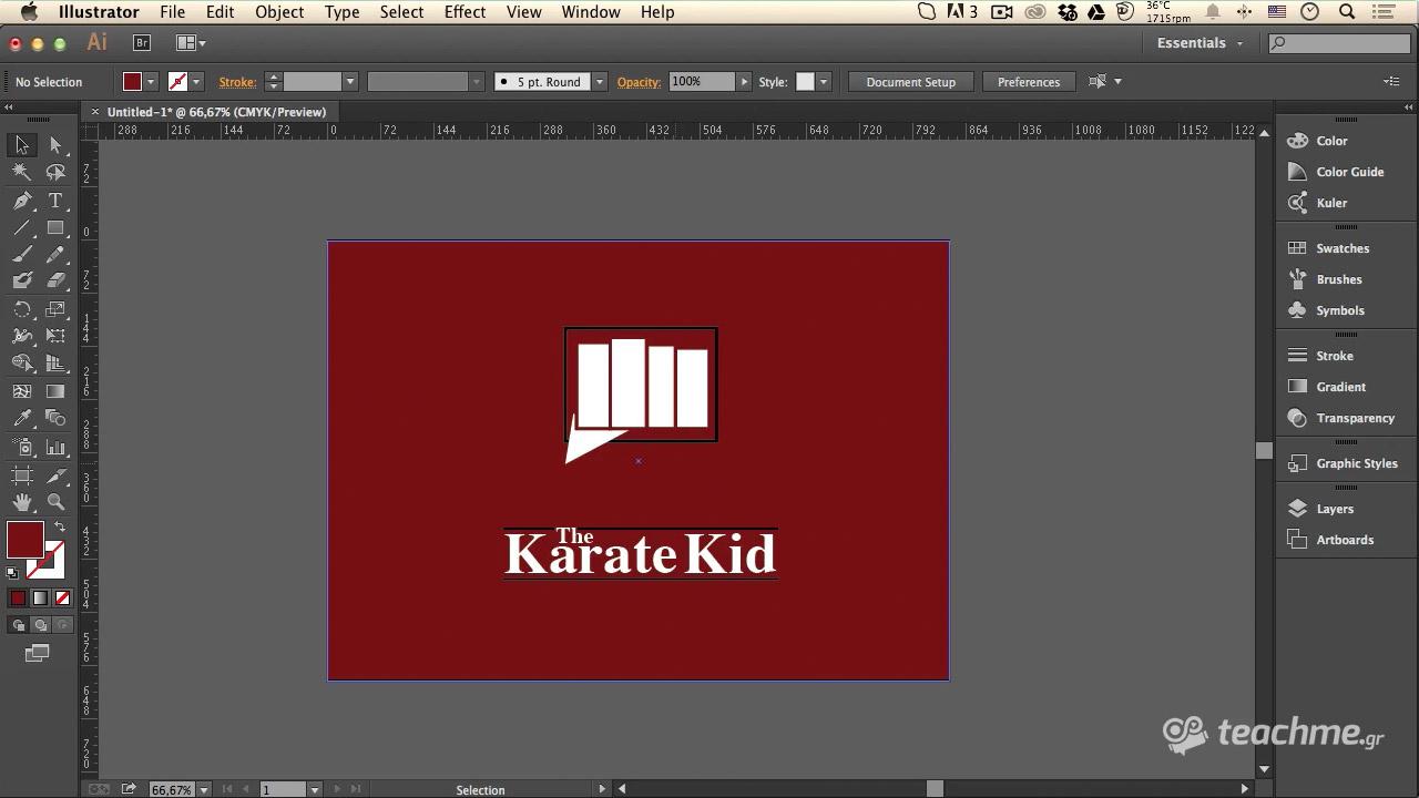 """Το Λογότυπο του """"The Karate Kid"""" στο Adobe Illustrator 53ff38ba79e"""