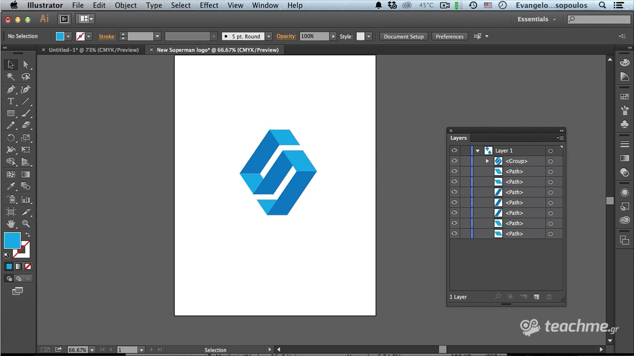 Μίνιμαλ   3D Λογότυπο στο Adobe Illustrator 4a158bce68b