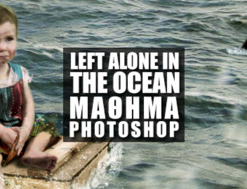 Left Alone in the Ocean – Photo Manipulation