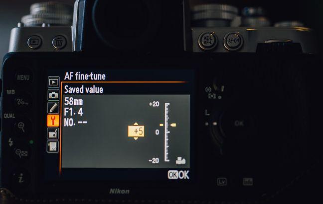 Ρύθμιση της τελικής εστίασης (Nikon)
