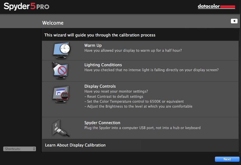 Spyder 5 Pro - Προετοιμασια καλιμπραρίσμαστος
